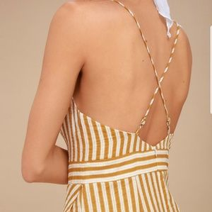 09d62f37806 Lulu s Dresses - Lulu s Central Park Yellow and White Striped Dress